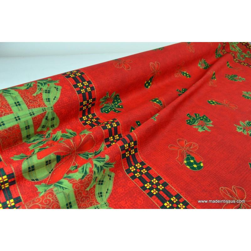 Tissu pour décoration nappes de noel .x 1m - MADE IN TISSUS