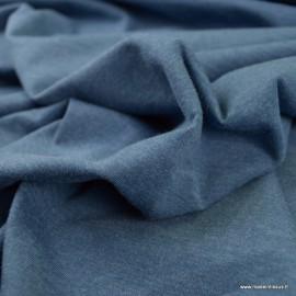 Tissu jersey chiné coloris Bleu denim - oeko tex