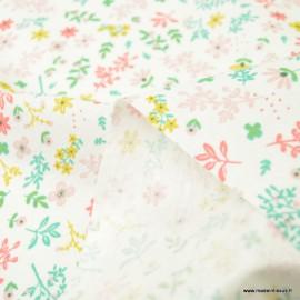 Pul contact alimentaire imprimé fleurs Pimprenelle - oeko tex
