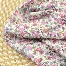 Popeline Romy style Liberty coloris Fuchsia et Rose - Oeko tex