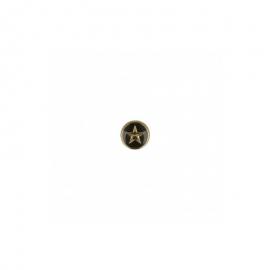 Bouton étoile Or et Noir 10mm