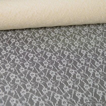 Tissu Dentelle 811S coloris Ivoire/Naturel 100%PA 160cm