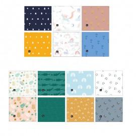 Panneau de 6 masques à plis enfant catégorie 1 Katia Fabrics - oeko tex