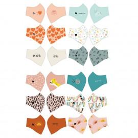 Panneau de 6 masques à pinces enfant catégorie 1 Katia Fabrics - oeko tex