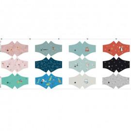 Panneau de 7 masques à pinces enfant catégorie 1 Katia Fabrics - oeko tex