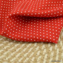 Tissu Viscose à pois fond Rouge