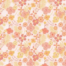 Popeline motifs fleurs corail Katia Fabrics - oeko tex