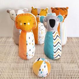 Popeline motifs animaux de la jungle par Katia Fabrics  - oeko tex