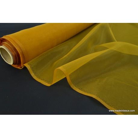 Organza polyester jaune or robe de mariée