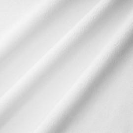 Tissu minky Ras ultra doux blanc