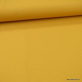 Tissu jersey Bio coloris Moutarde -  GOTS & Oeko tex