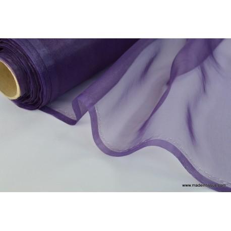 Organza polyester violet pour robe de mariée
