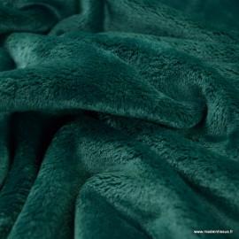 Tissu doudou ultra doux, lourd Emeraude