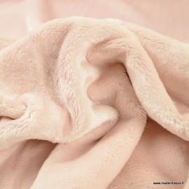 Tissu doudou ultra doux, lourd Rose poudré