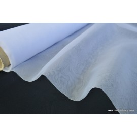 Tissu Organza polyester blanc robe de mariée .