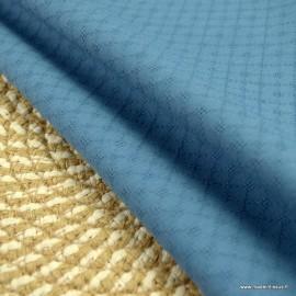 Popeline ajourée et brodée motifs losanges coloris Indigo - oeko tex