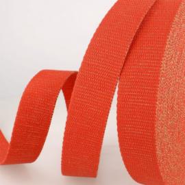 Sangle Lurex Rouge et or 30mm pour sac