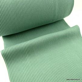 Tissu jersey Bord-côte Tubulaire côtelé Menthe - oeko tex