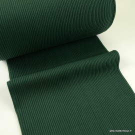 Tissu jersey Bord-côte Tubulaire côtelé vert bouteille - oeko tex