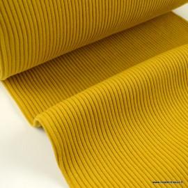 Tissu jersey Bord-côte Tubulaire côtelé Moutarde - oeko tex