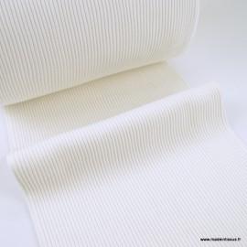 Tissu jersey Bord-côte Tubulaire côtelé Ecru - oeko tex