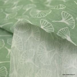 Pul contact alimentaire motifs Ginkgo vert Lichen - oeko tex