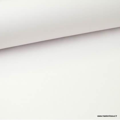 Tissu Gabardine enduite étanche blanc.