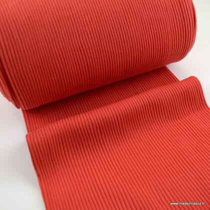 Tissu jersey Bord-côte Tubulaire côtelé Rouge - oeko tex