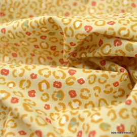 Tissu coton motifs léopard - Cougui - Oeko tex
