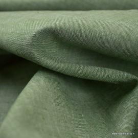 Tissu chambray coloris Sapin - oeko tex