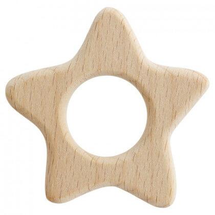 Anneau de dentition bébé en bois étoile