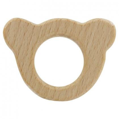 Anneau de dentition bébé en bois Ours