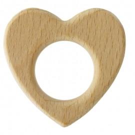 Anneau de dentition bébé en bois Coeur