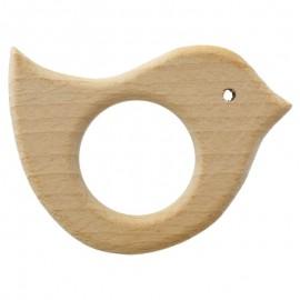 Anneau de dentition bébé en bois Oiseau