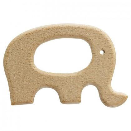 Anneau de dentition bébé en bois Elephant