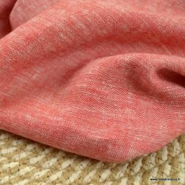 Tissu viscose Lin chambray Rouge