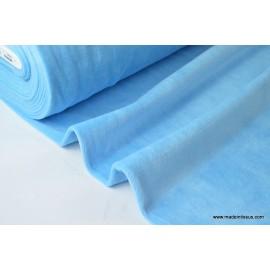 Tissu velours raser pyjamas nicky bleu
