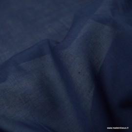 Tissu Voile de coton Marine - Bio GOTS