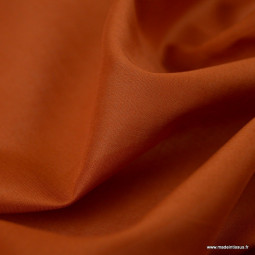 Tissu Voile de coton Brique - Bio GOTS