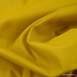 Tissu Voile de coton Ocre - Bio GOTS
