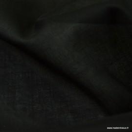 Tissu Voile de coton Noir - Bio GOTS