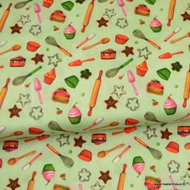 Tissu popeline coton motifs accessoires de cuisine Confiture2 - oeko tex