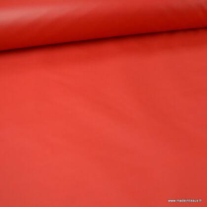 Tissu polyester rouge déperlant pour parapluie