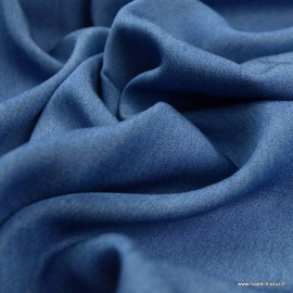Tissu Viscose chambray bleu jean