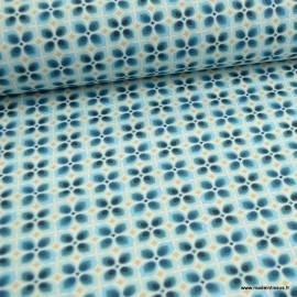 Tissu cretonne coton Wendy Bleu - oeko tex