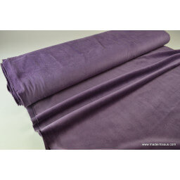 Tissu velours raser pyjamas nicky violet