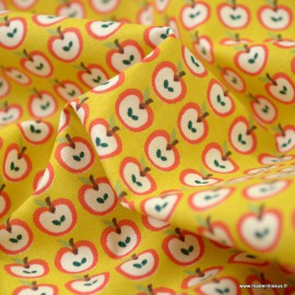 Tissu coton Pomi motifs Pommes - Oeko tex