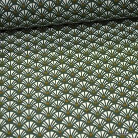 Tissu coton Yazo imprimé écailles grises - Oeko tex