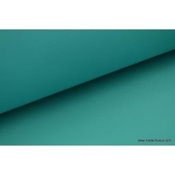 Faux cuirs ameublement rigide turquoise par 50cm