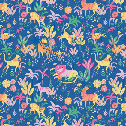 "Popeline motifs animaux de la Jungle par Katia Fabrics "" - oeko tex"